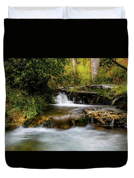 Duvet Cover featuring the photograph Provo Deer Creek Cascades by TL Mair
