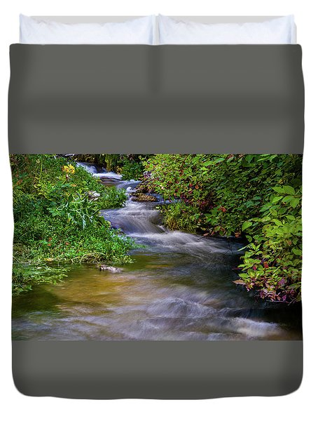 Duvet Cover featuring the photograph Provo Deer Creek by TL Mair