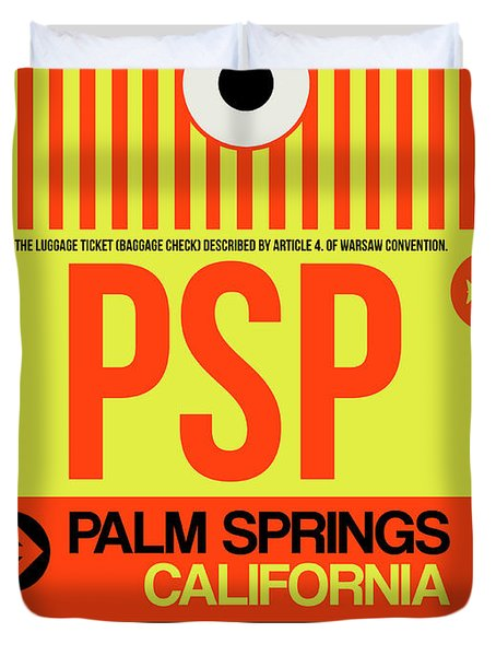Psp Palm Springs Luggage Tag I Duvet Cover