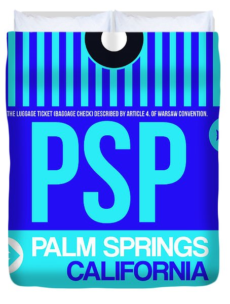 Psp Palm Springs Luggage Tag II Duvet Cover