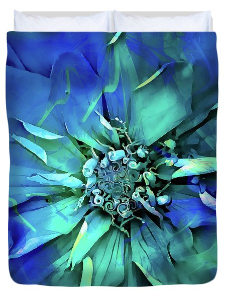 Psychedelic Blues Duvet Cover