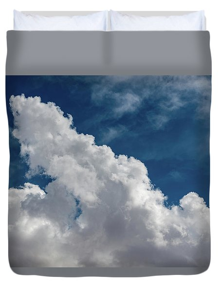 Puffy White Clouds Duvet Cover