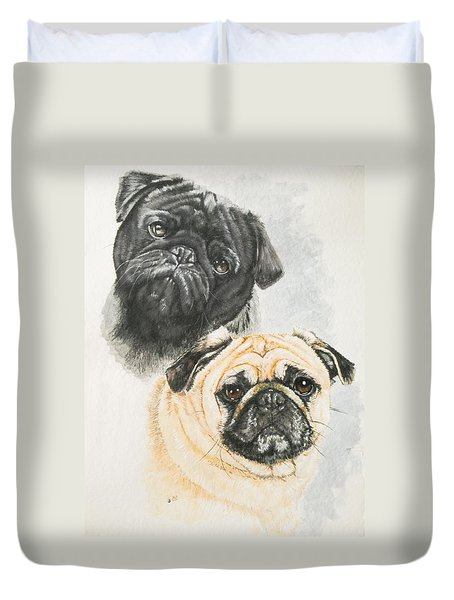 Pug Brothers Duvet Cover