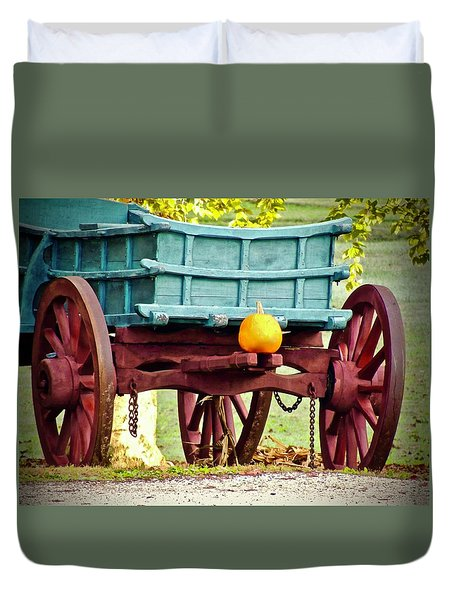 Duvet Cover featuring the photograph Pumpkin Trail Mix by Don Moore