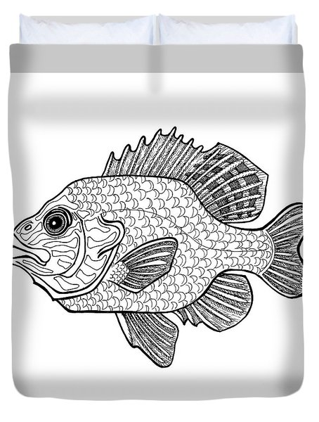 Pumpkinseed Fish Duvet Cover