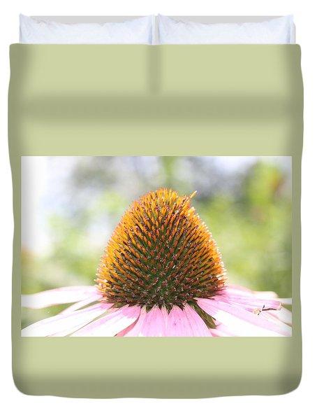 Purple Coneflower Seeds Duvet Cover