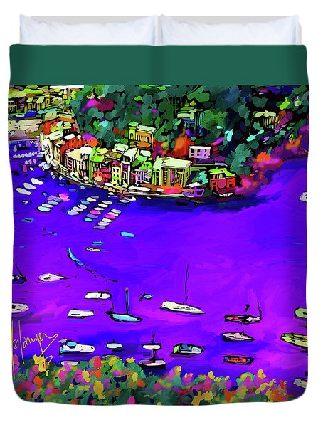 Purple Cove Duvet Cover