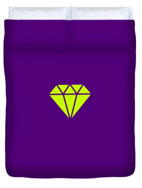 Purple Diamond Yellow Duvet Cover