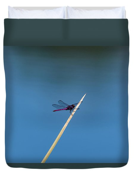 Purple Dragonfly Duvet Cover