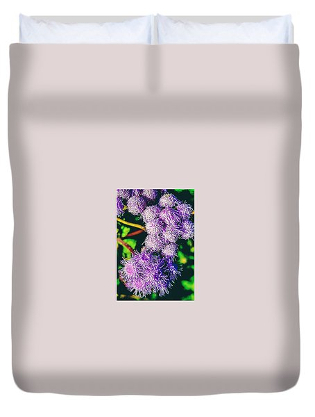 Purple Fur Duvet Cover