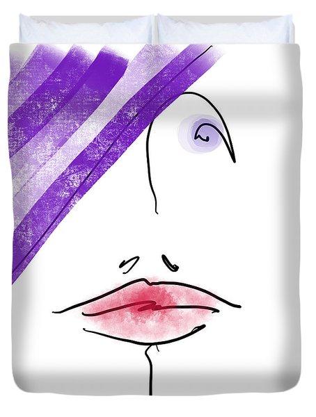 Purple Hat Duvet Cover