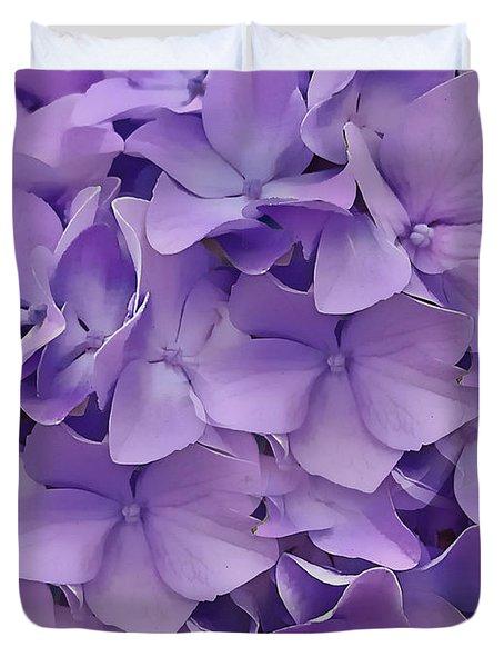 Purple Hydrangea  Duvet Cover