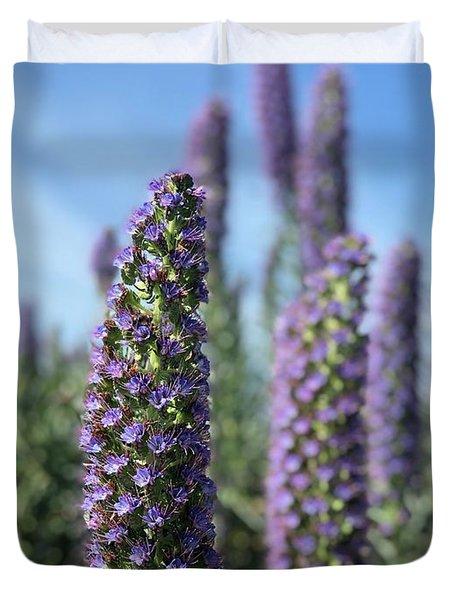 Purple Hyssop  Duvet Cover