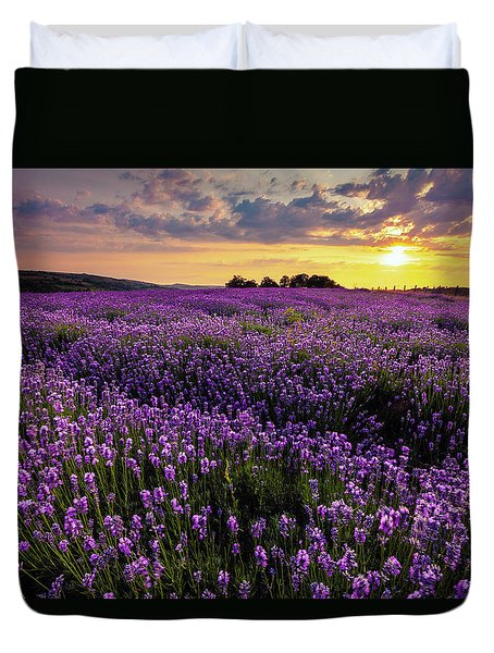 Purple Sea Duvet Cover