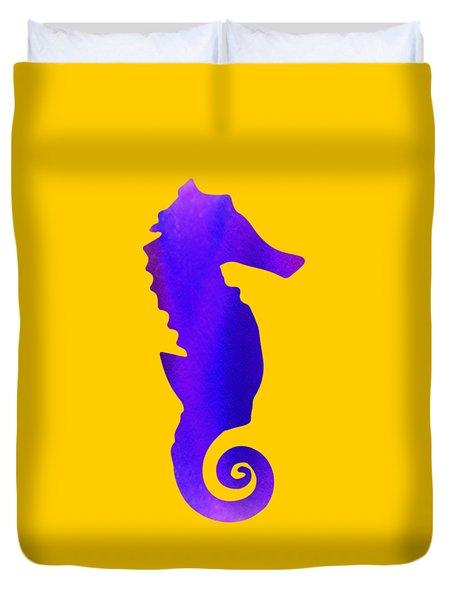 Purple Seahorse Fantasy  Duvet Cover