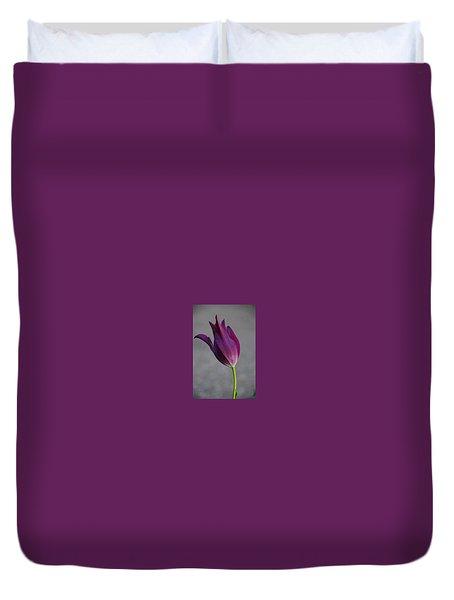 Purple Tulip Duvet Cover