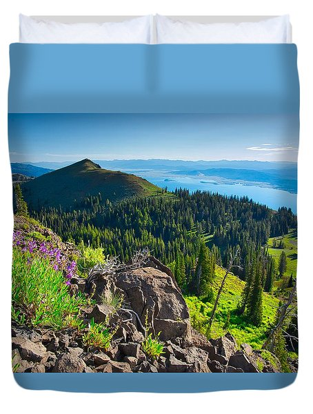 Purple Vista Duvet Cover