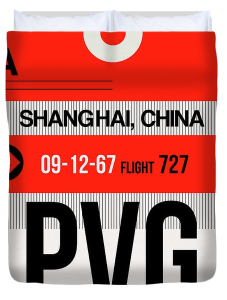 Pvg Shanghai Luggage Tag I Duvet Cover