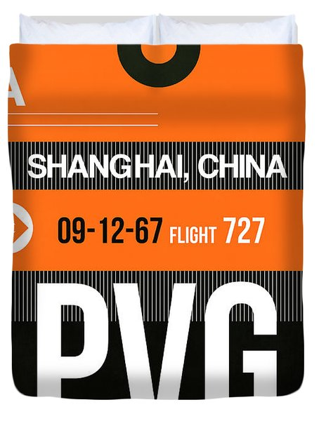 Pvg Shanghai Luggage Tag II Duvet Cover