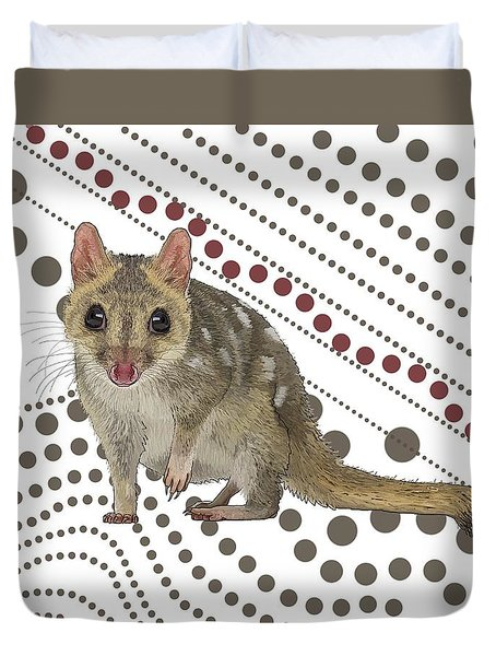 Q Is For Quoll Duvet Cover
