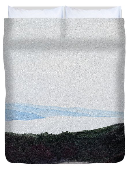 Quabbin Looking North Duvet Cover