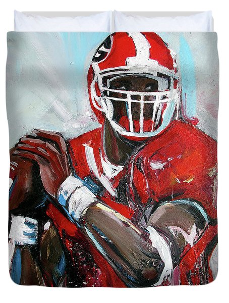 Quarterback Duvet Cover