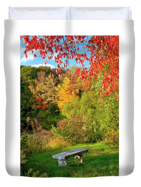 Quiet Autumn Moments Duvet Cover
