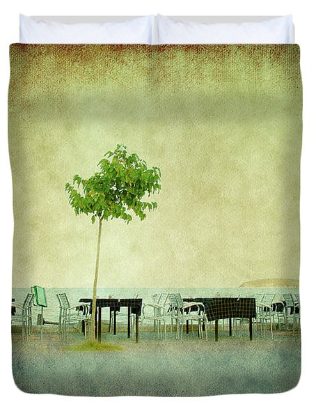Duvet Cover featuring the photograph Quiet Evening by Milena Ilieva