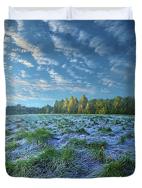 Duvet Cover featuring the photograph Quiet Grace by Phil Koch