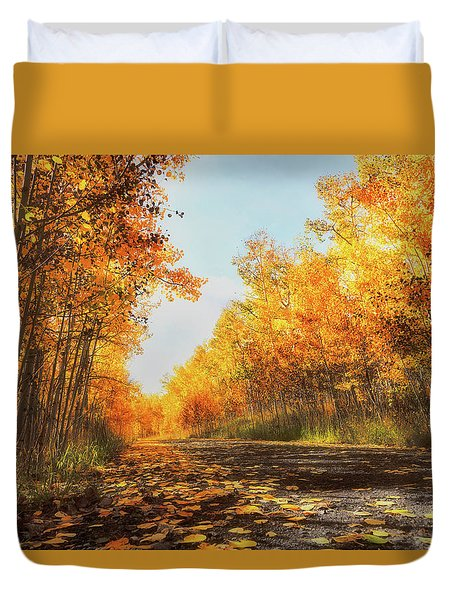 Duvet Cover featuring the photograph Quiet Time by Rick Furmanek