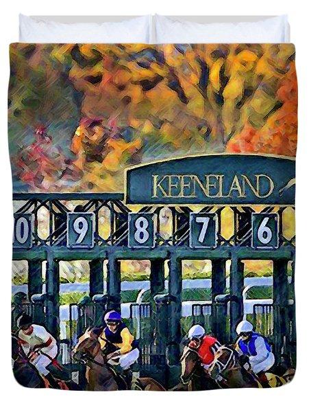 Fall Racing At Keeneland  Duvet Cover