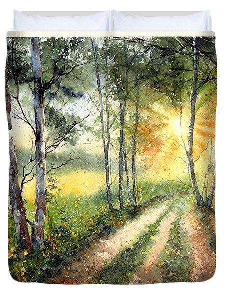Radiant Sun On The Autumn Sky Duvet Cover