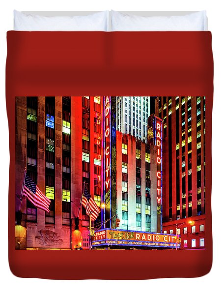 Radio City Music Hall Duvet Cover