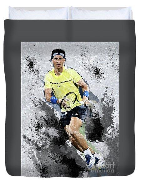 Rafael Nadal Duvet Cover