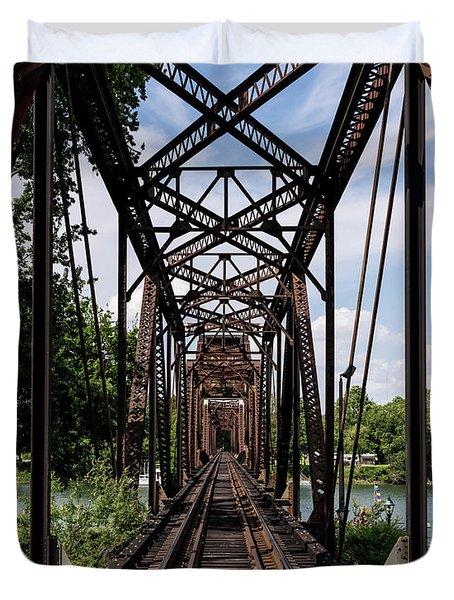 Railroad Bridge 6th Street Augusta Ga 1 Duvet Cover