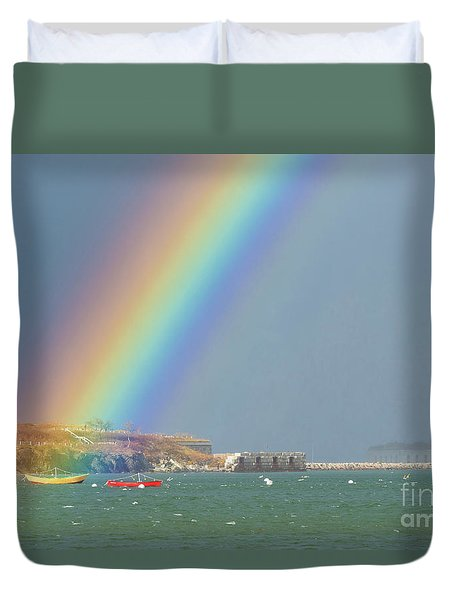 Rainbow At Spring Point Ledge Duvet Cover