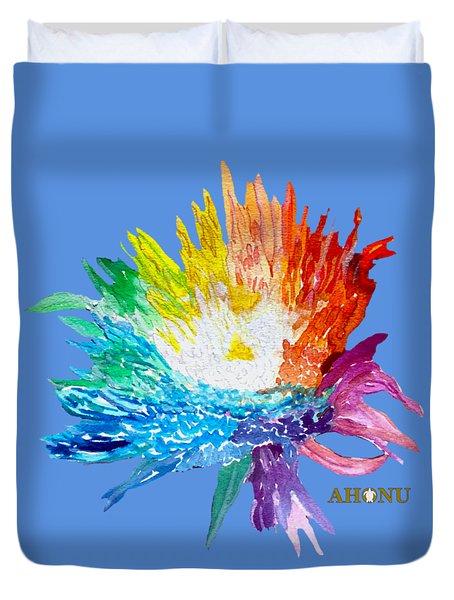 Rainbow Chrysanthemum Duvet Cover