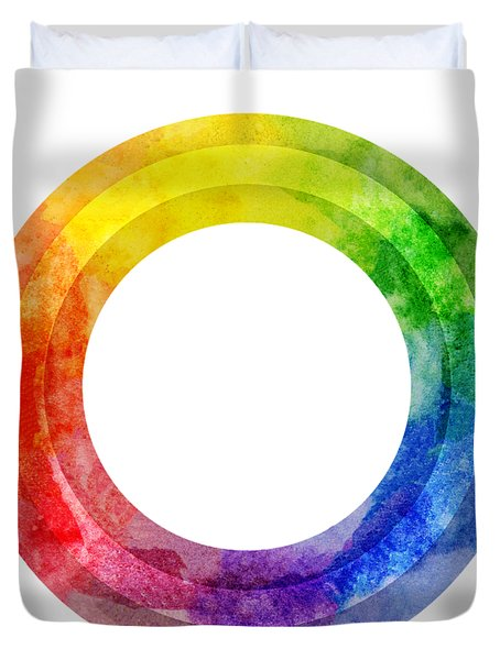 Rainbow Color Wheel Duvet Cover