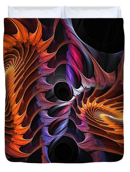 Rainbow Incursion Duvet Cover