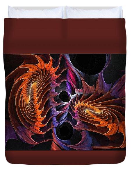 Rainbow Incursion Duvet Cover