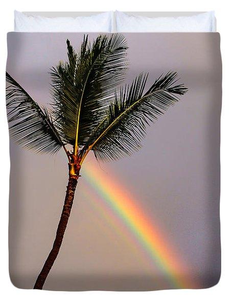 Rainbow Just Before Sunset Duvet Cover