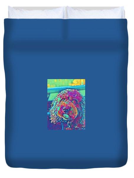 Rainbow Pup Duvet Cover