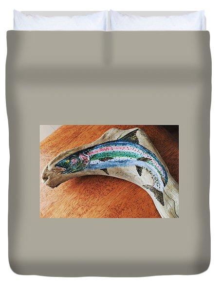 Rainbow Trout #1 Duvet Cover