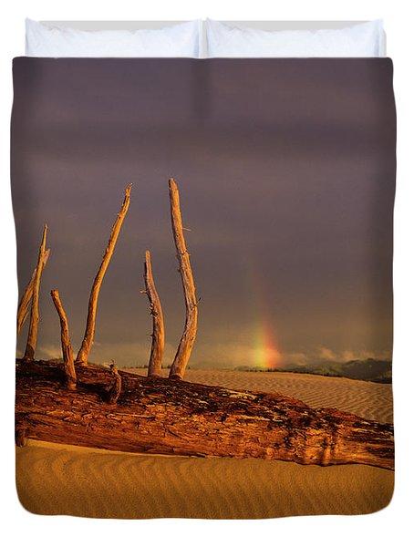 Rainy Day Dunes Duvet Cover