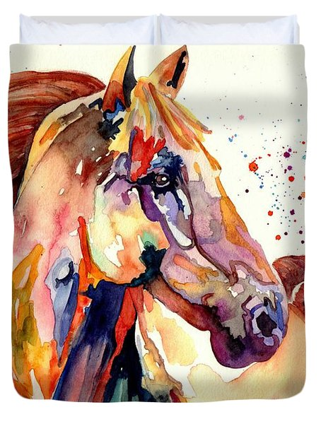 Rainy Horse Duvet Cover