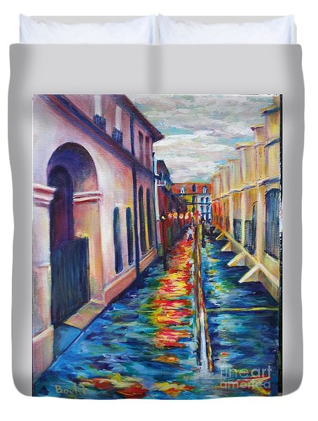 Rainy Pirate Alley Duvet Cover