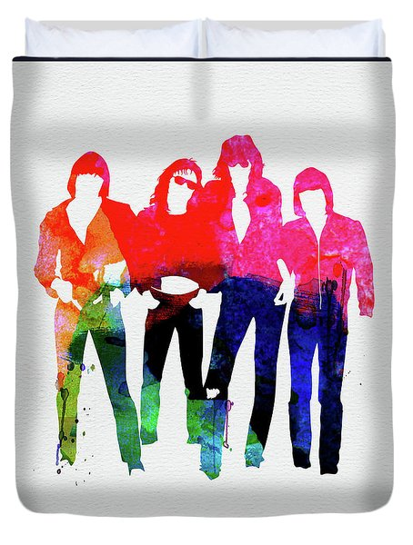 Ramones Watercolor Duvet Cover