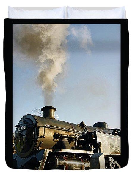 Ramsbottom. East Lancashire Railway. Locomotive 80080. Duvet Cover