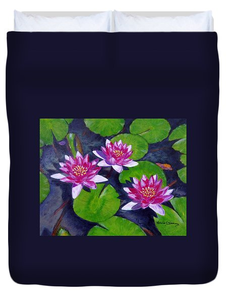 Rancho Water Lilies Duvet Cover