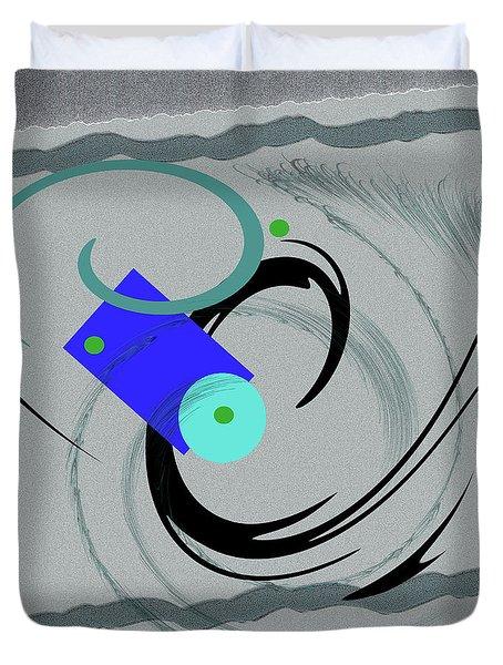 Randomness Variations 5, On Paper Montage Duvet Cover